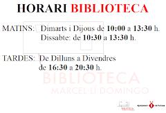 HORARI BIBLIOTECA