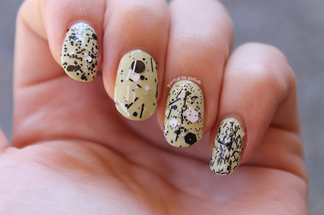 Black and White Glitter Polish Comparison