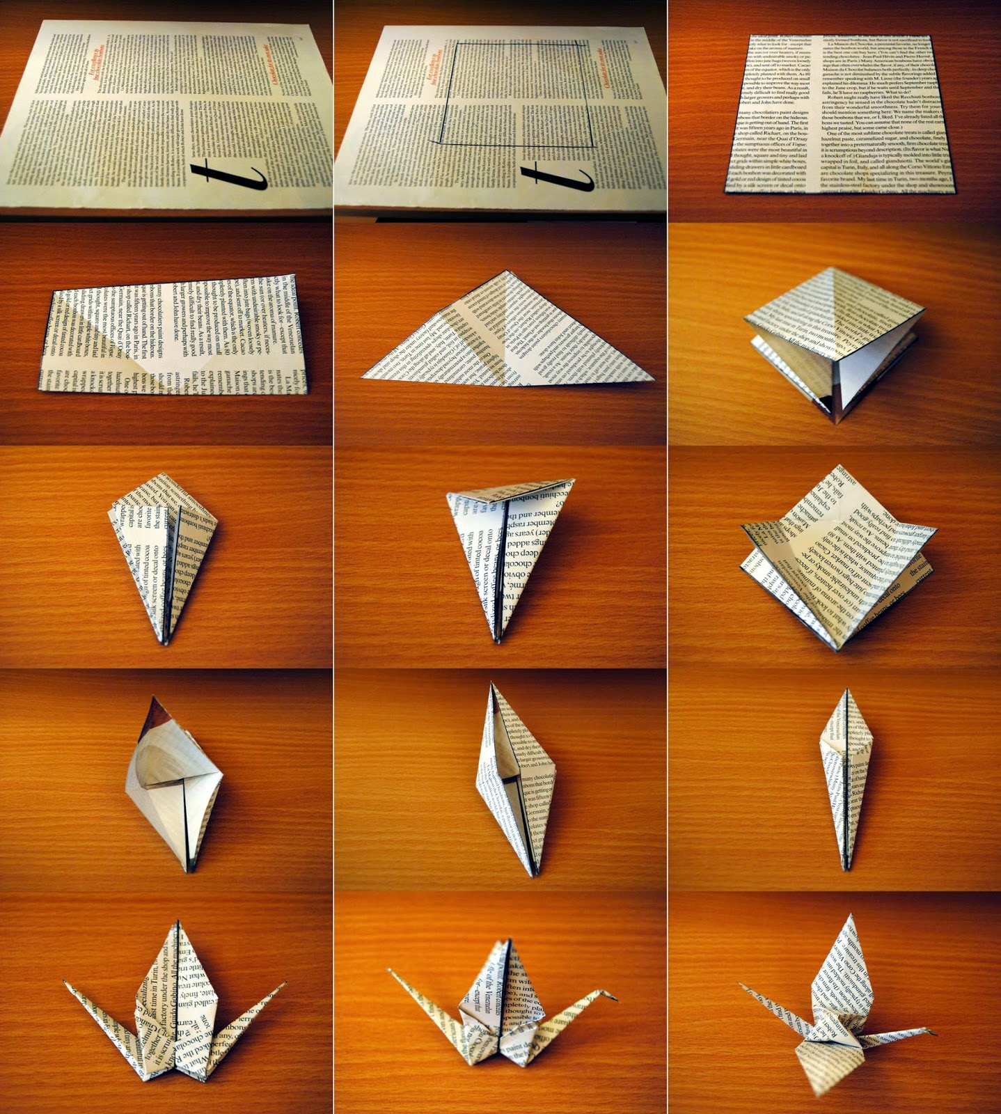 easy make origami crane ~ origami instructions art and craft ideas