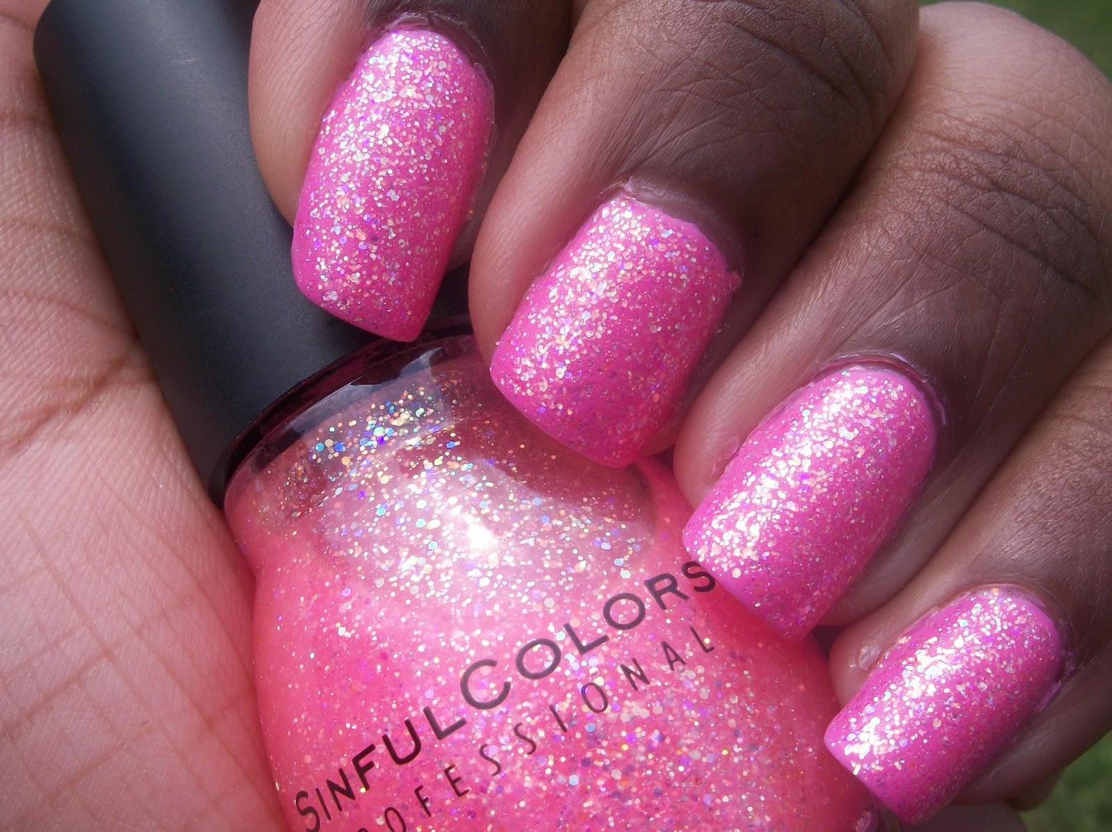 cdesigns92: nail polish spotlight (combo): pink princess glitter