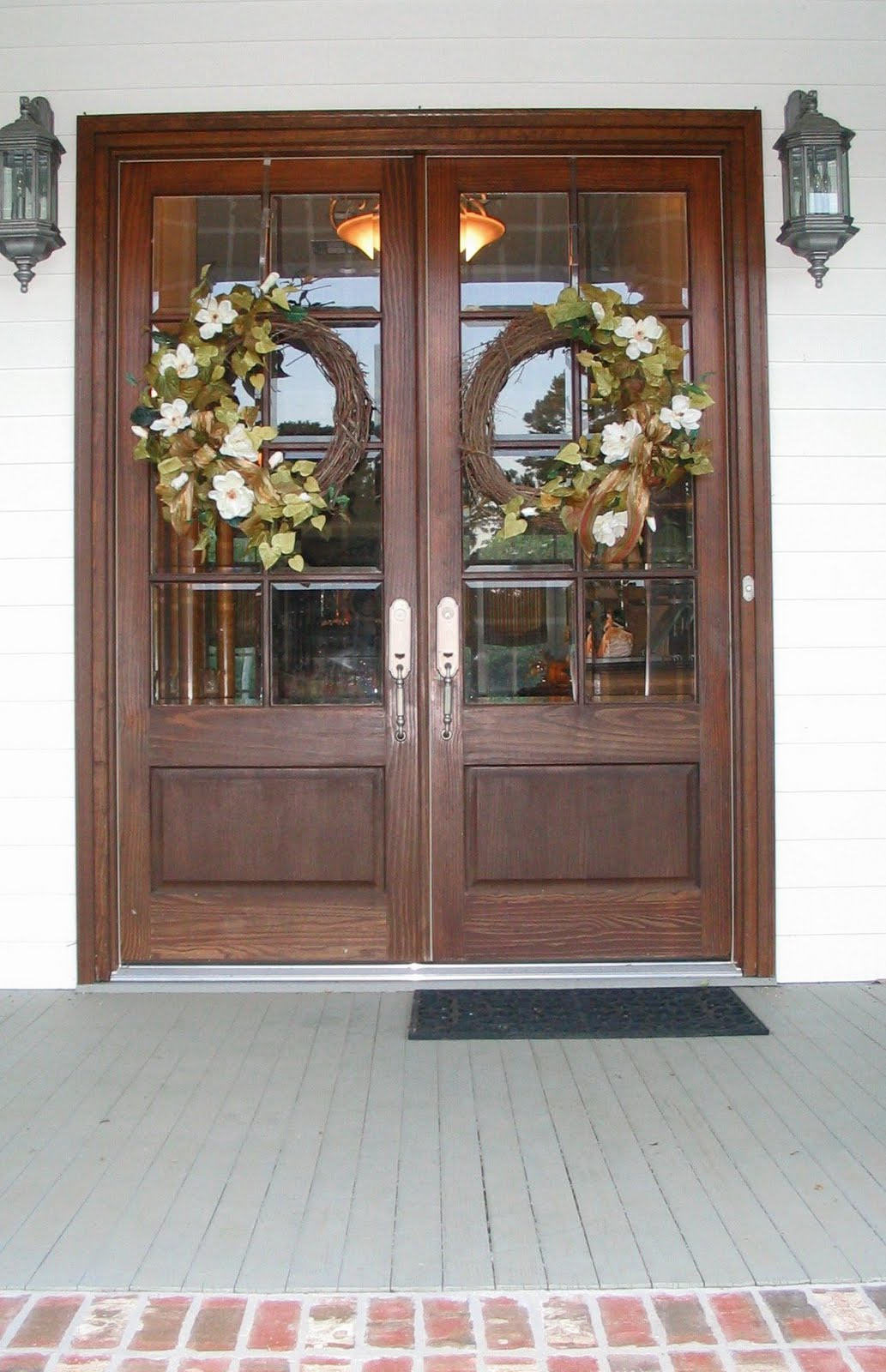 A southern belle dishes on decor my life on the front porch for Double door ideas