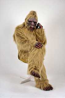 Bigfoot on phone