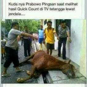 Kuda Prabowo Pingsan