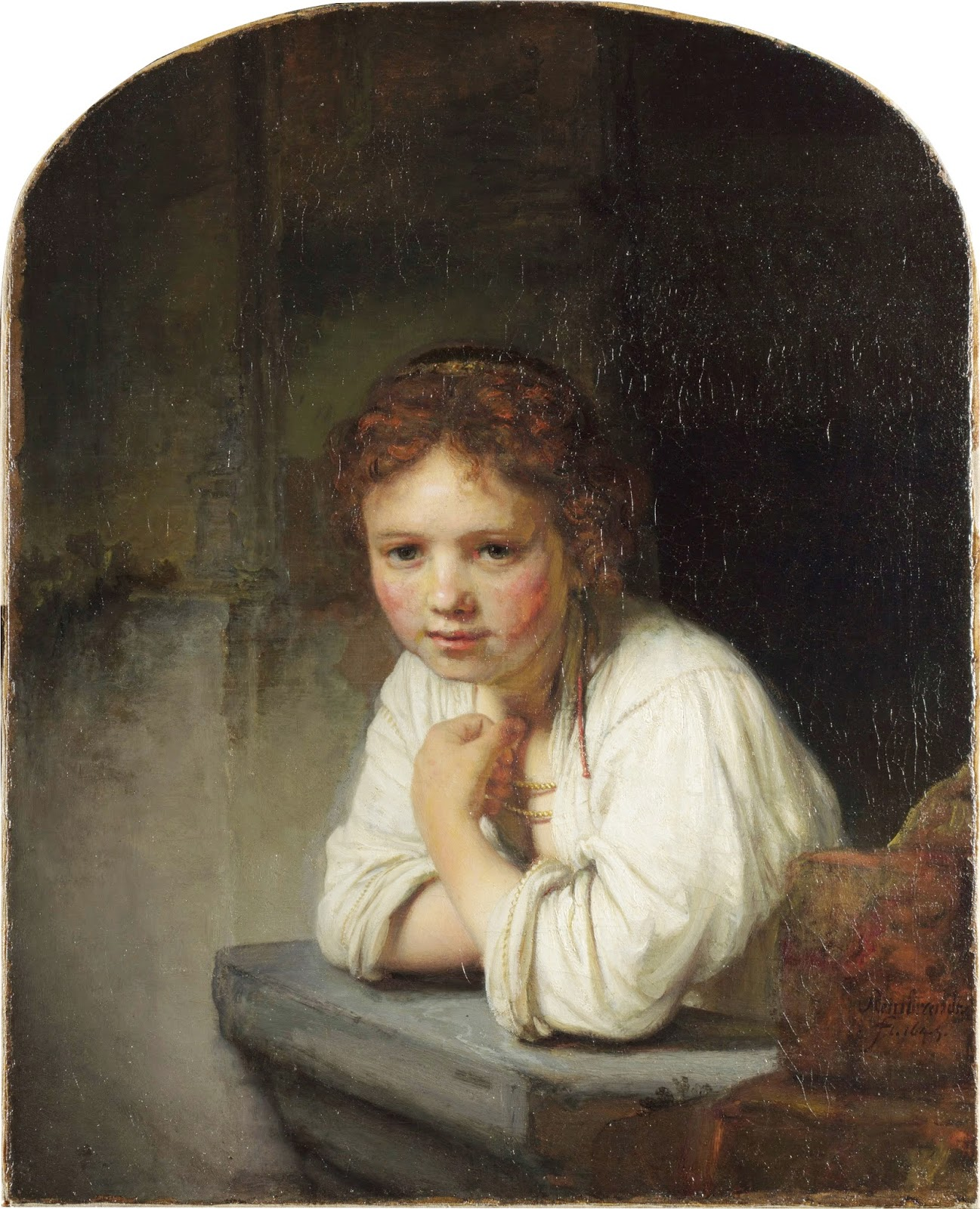 rembrandt to reynolds rembrandt girl leaning on a windowsill 1649 oil on canvas 82 x 66 cm dulwich picture gallery london