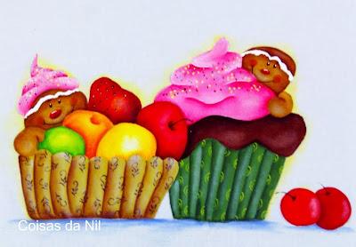 bonecos gingers com futas e cupcake