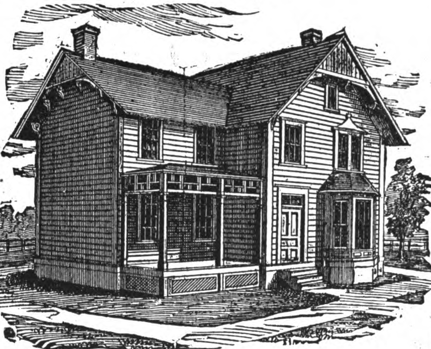 19th century historical tidbits 1895 rural house plans 4 for 19th century farmhouse plans