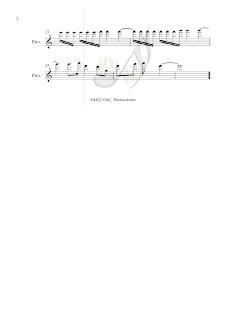 2 Balada para Adelina Partitura en clave de Sol de Saxo Alto, violín, trompeta, flautas, corno, trompa, oboe, tenor, soprano, clarinete...