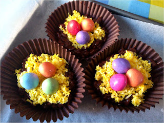 easter nests no bake