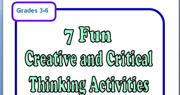 critical thinking printables Critical thinking worksheets for teachers used in engaging students in the advanced levels of thinking we have brain teasers and mad libs too.