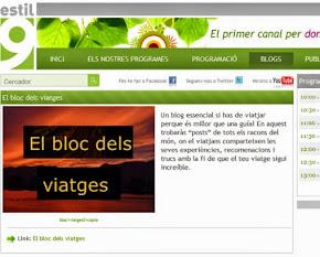 El Bloc dels Viatges a Estil 9 Televisió