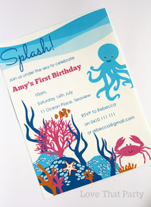 Under the Sea Invitation Pink