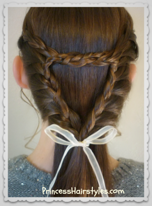 Triangle or heart lace braid video tutorial, Valentine's day