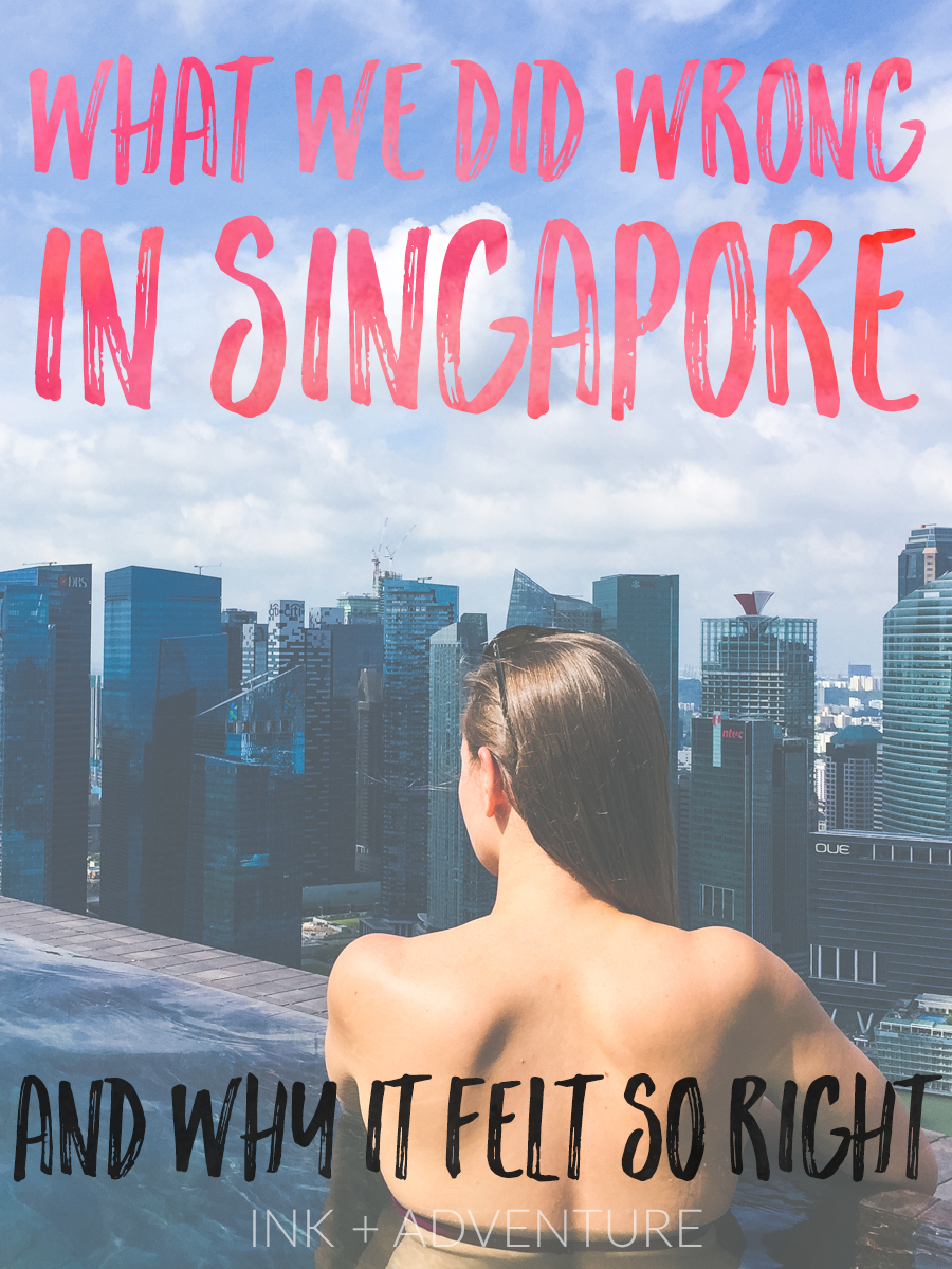 do you ever feel pressured to do-see-eat-go everywhere when you're on vacation?  according to the internet, we did everything wrong on our trip to Singapore. but for us, it was just right. relaxing with a city view from the infinity pool at the Marina Bay Sands was the perfect way to spend our vacation and actually feel like we went on a vacation!