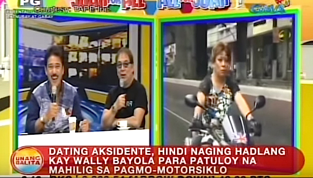 Wally Bayola, tells his motorcycle accident experience