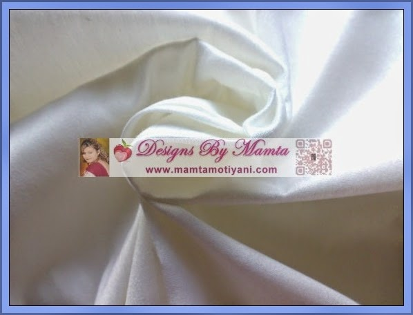 White Dupioni Silk Fabric