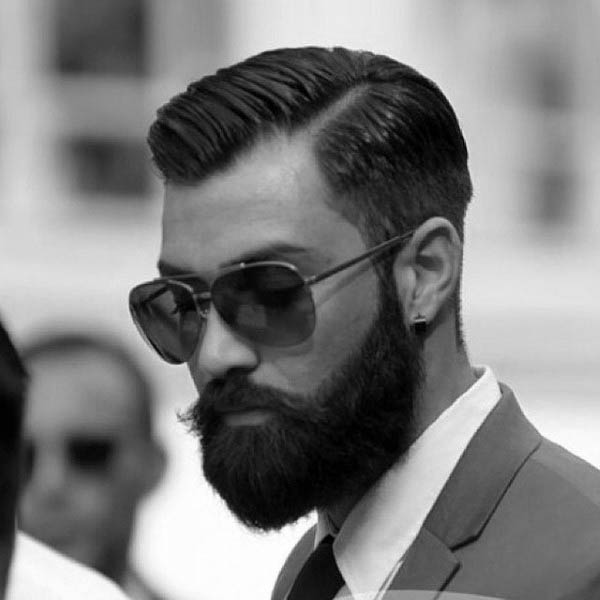 Dapper Haircuts For Men Hairstylo - Mens hairstyle with glasses