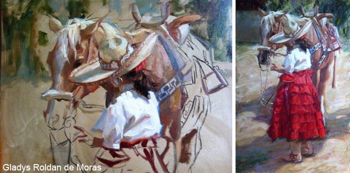 Painter Gladys Roldan de Moras