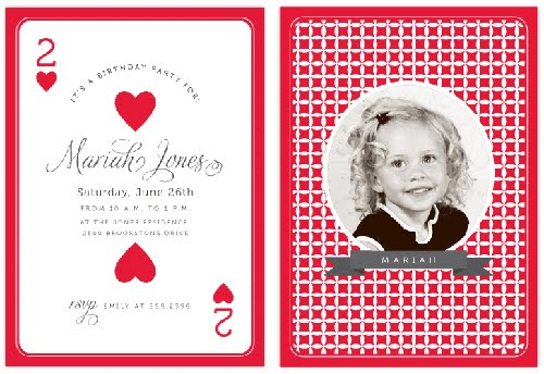 the stationery place June 2011 – Playing Card Invitation