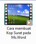 Download video tutorial cara membuat kop surat
