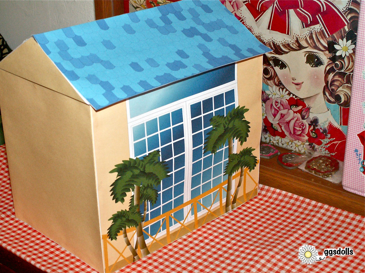 Look at This Cool Paper Doll House Kit!!