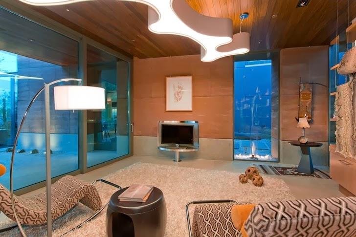 Relaxing room in Multimillion modern dream home in Las Vegas