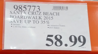Deal for the Santa Cruz Beach Boardwalk 2 Rides & Attractions Combos at Costco