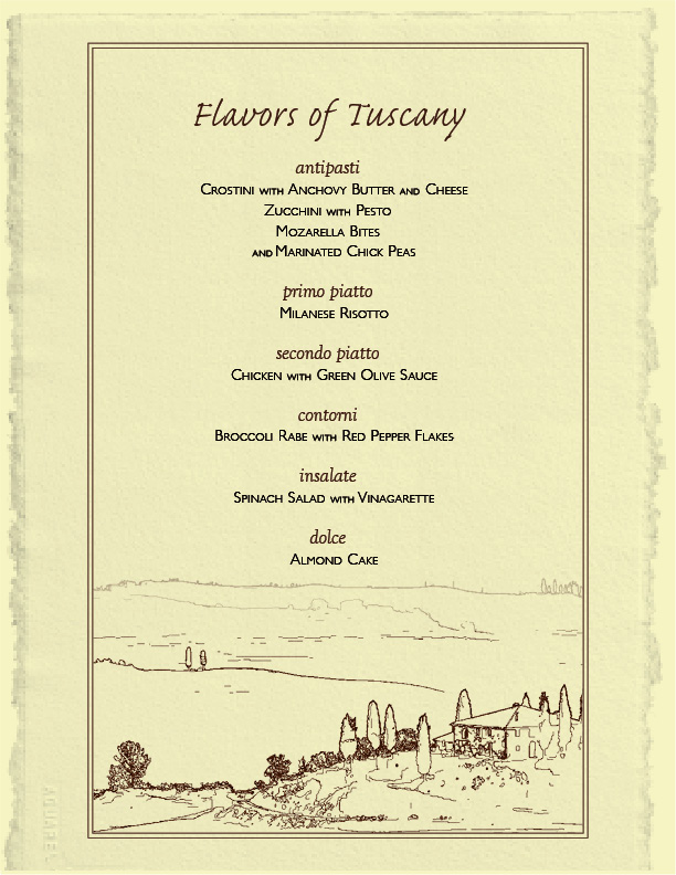 dinner party menus