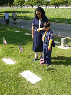 Memorial Day flag placement by Lady by Choice
