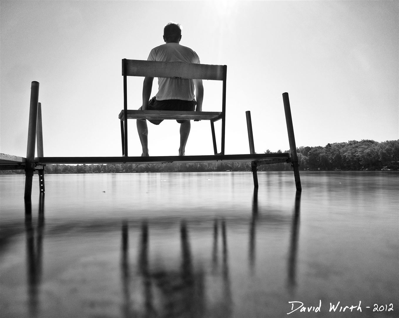 ND filter lake water, calm, dock, sitting