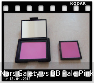Nars Gaiety vs Bobbi Brown Pale Pink