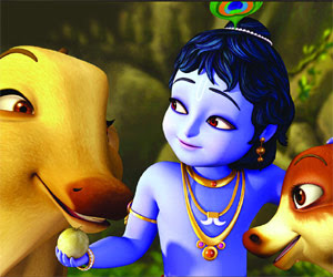 Krishna cartoon wallpaper