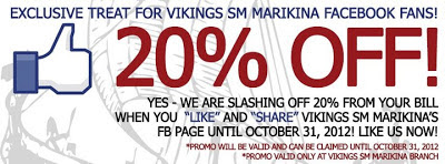 VIKINGS SM City Marikina 20% OFF, vikings, food, restaurant