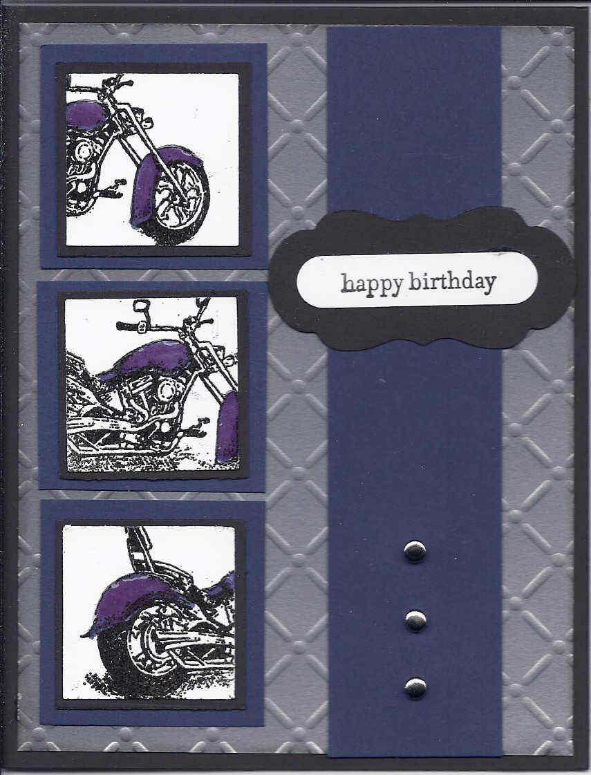 Stampin Gardener Motorcycle Card Set