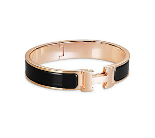 Jewellery Every Women Should Own: Enamel Bangles Hermes Rose Gold Clic Clac