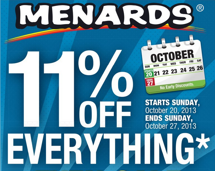 Casual Couponing: 11% Rebate at Menards