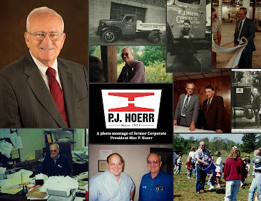 A photo montage of former Corporate President Max P. Hoerr