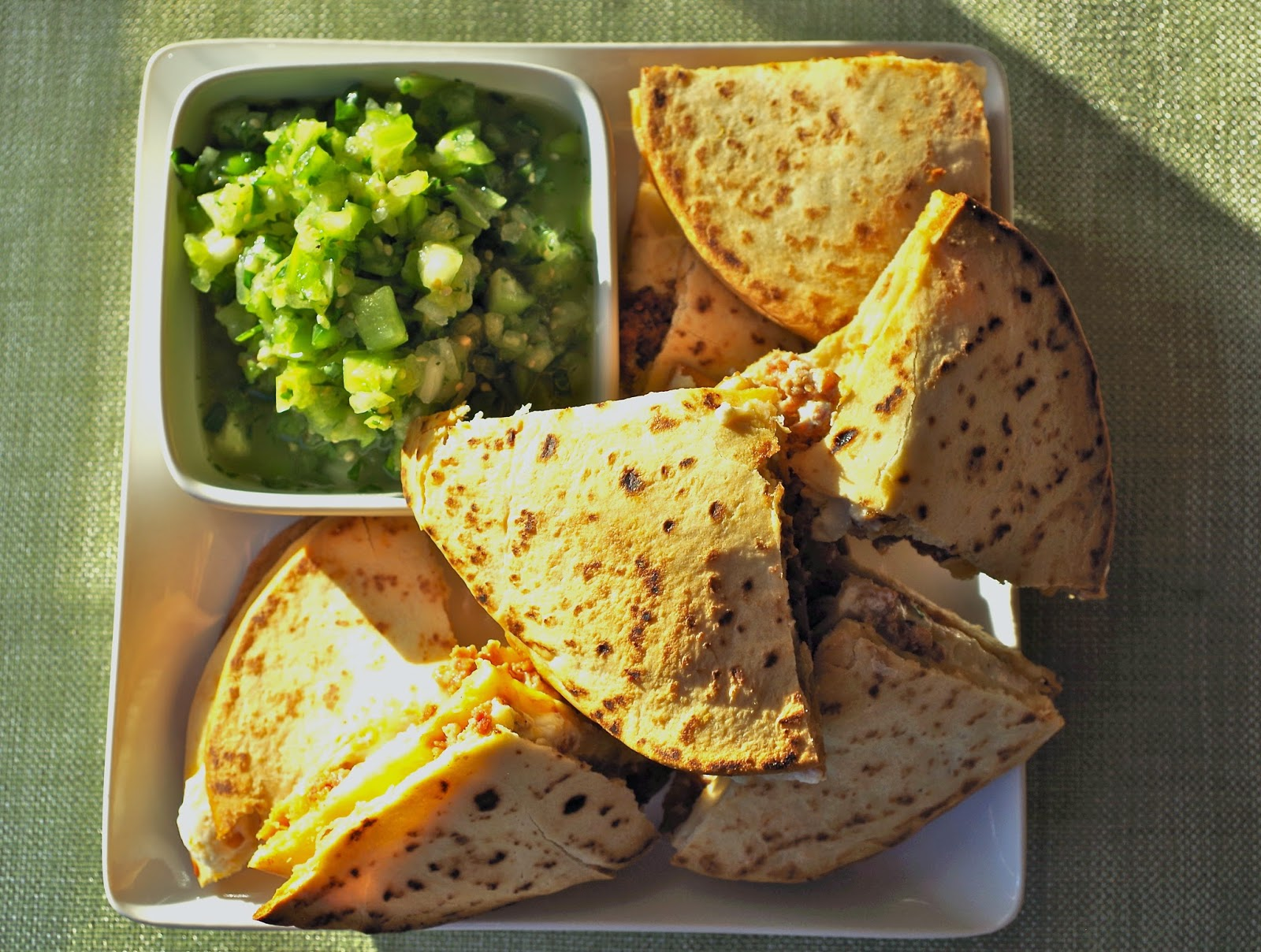 morsels & sauces: Chorizo and Goat Cheese Quesadilla with ...