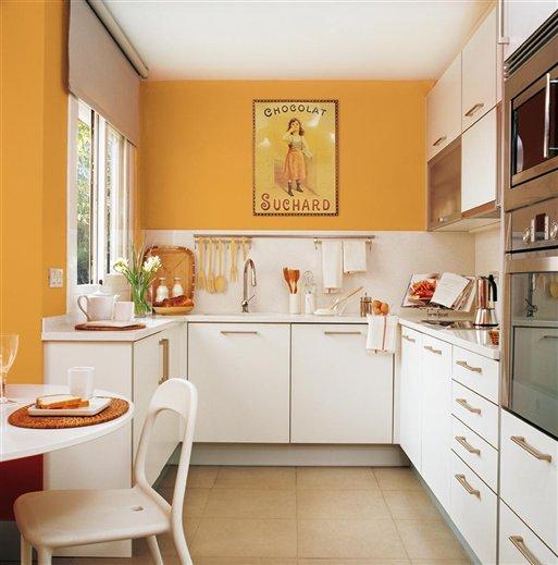 Testeiras mais altas na cozinha jeito de casa blog de - Cocinas pintadas fotos ...