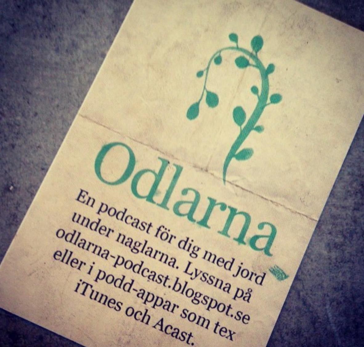 Lyssna på mig i Odlarnas pod! Bästa poden ever! :-)