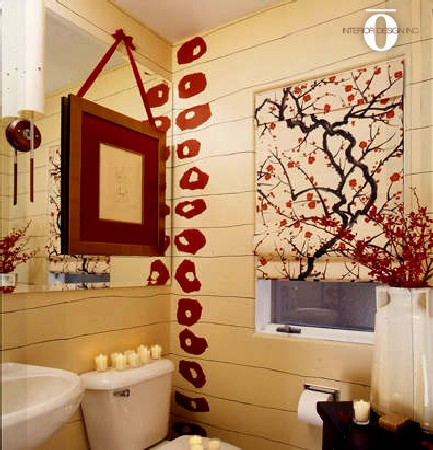 Interior Design Bathroom Sakura Japanese Flower Ideas