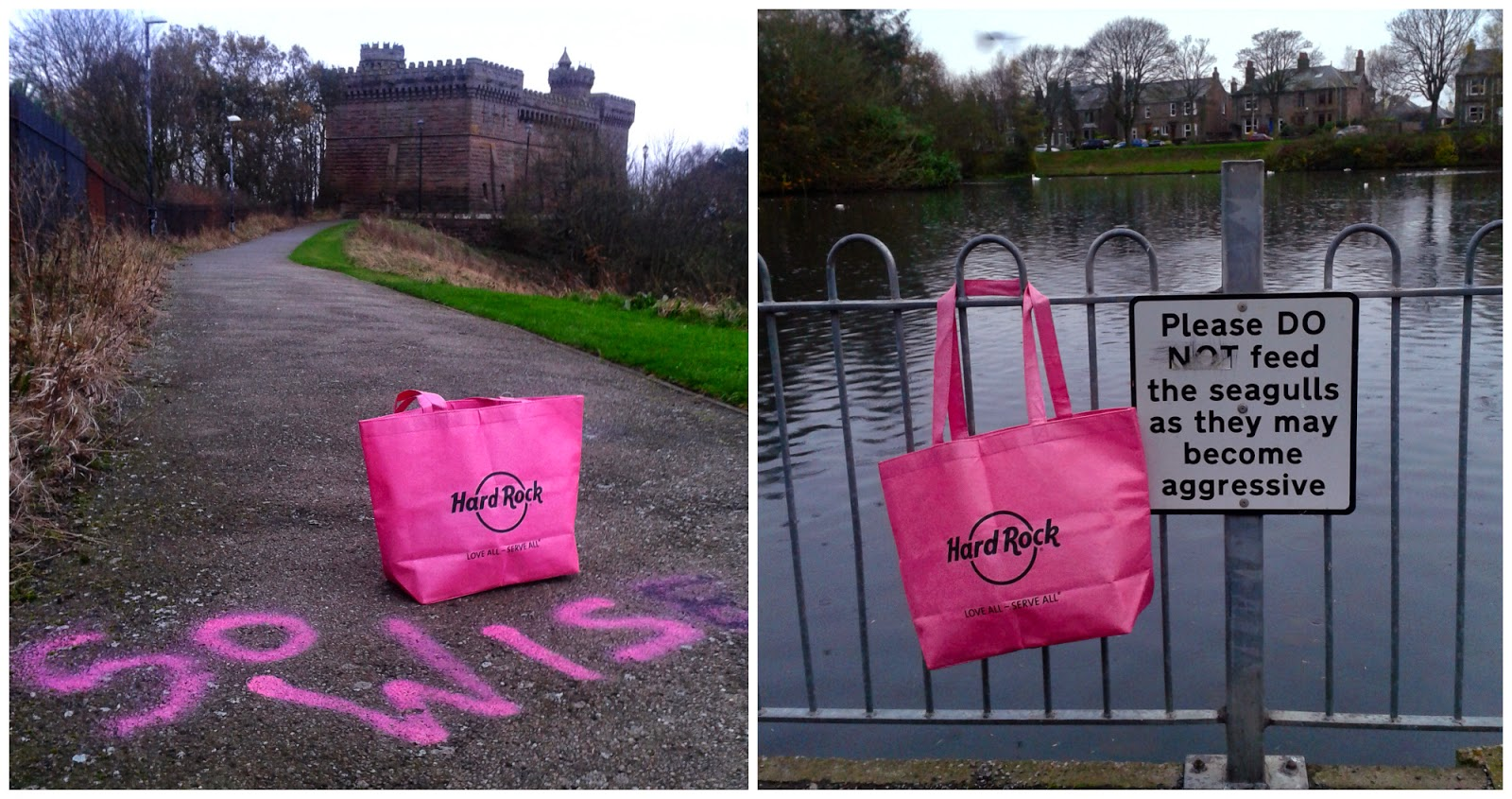 Hard Rock Cafe, Hard Rock Edinburgh, Blogger Event, Scottish Bloggers, Edinburgh bloggers, pinktober, #pinktober, Hard Rock bag, pink bag, Arbroath