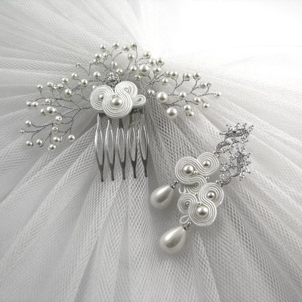 """Perłowa biżuteria ślubna sutasz, """"Rossa Pearl"""", kolekcja PRESTIGE."""