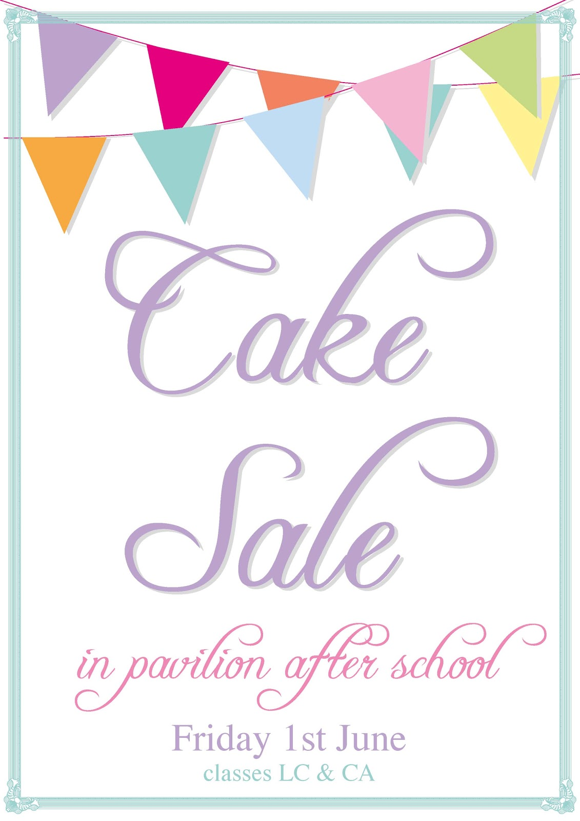 Bake Sale Poster Templates Posted by office at tuesday,