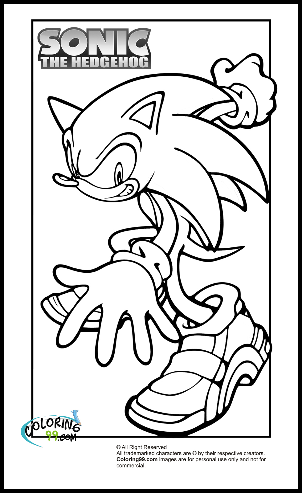 Sonic Coloring Pages Team colors