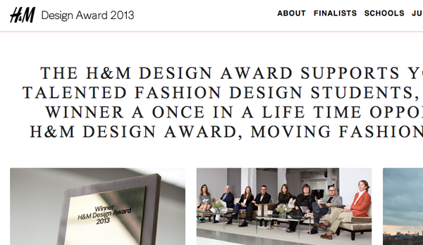 H&M design award on design and fashion recipes