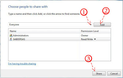 share folder to every one in windows