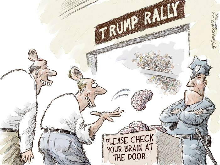 Image result for cartoon trump supporters