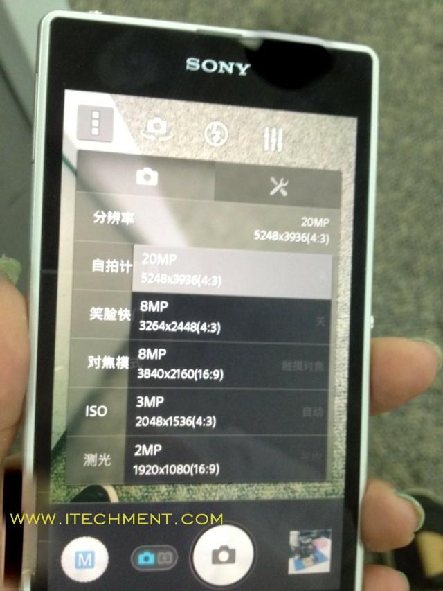 Sony Xperia Honami i10 have 20.7 MP camera