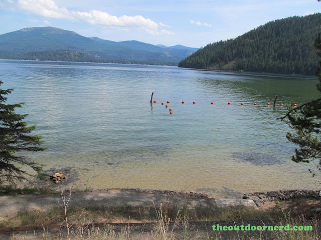 Outlet Campgrounds At Priest Lake, Idaho: View Of Swimming Area