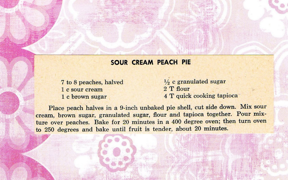 Sour Cream Peach Pie (quick recipe)